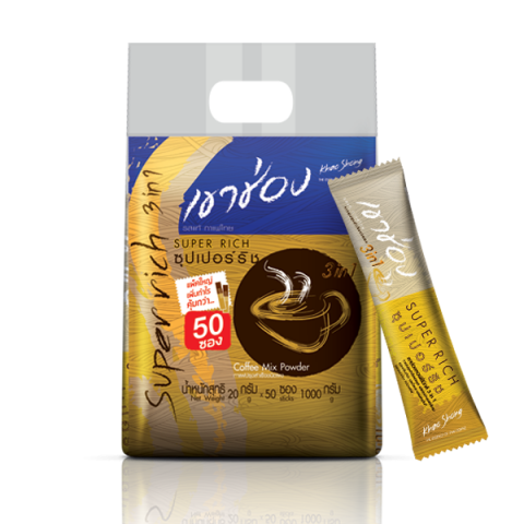 Khao Shong Coffee Mix 3in1 Super Rich / 20 g x 50 sticks / Price 163.00 THB