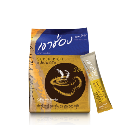 Khao Shong Coffee Mix 3in1 Super Rich / 20 g x 25 sticks / Price 99.00 THB