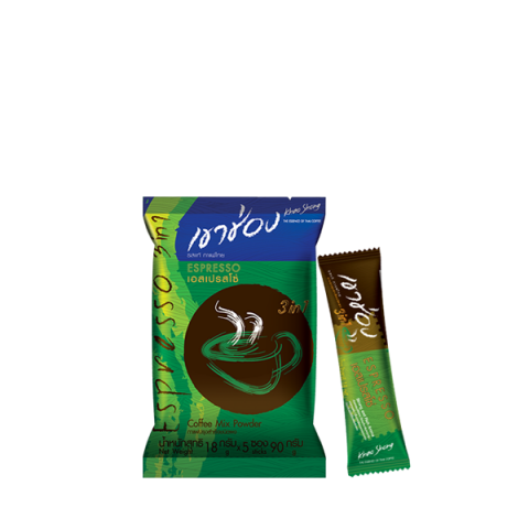 Khao Shong Coffee Mix 3in1 Espresso : Khao Shong Coffee Mix 3in1 Espresso / 18 g.x 5 sticks