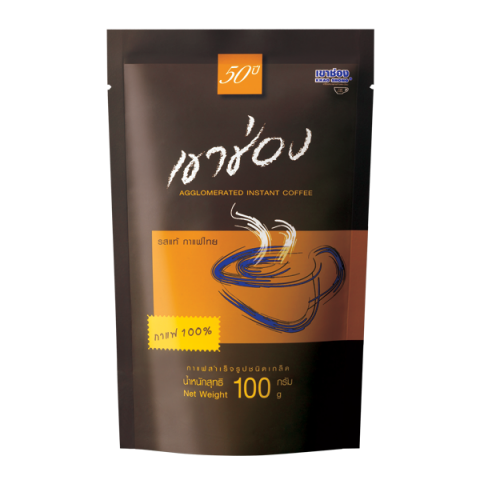 Khao Shong Coffee Agglomerated Instant Coffee Formula 1 (100% Coffee)/ 100 g / Price 59.00 THB