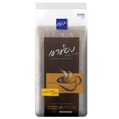 Khao Shong Coffee Agglomerated Instant Coffee Formula 1 (100% Coffee) / 2 g x 50 sticks  / Price 82.00 THB