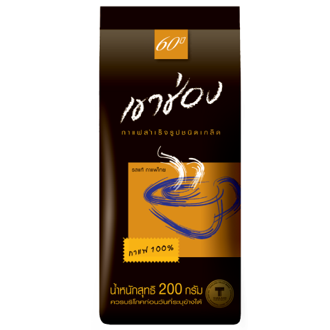 Khao Shong Coffee Agglomerated Instant Coffee Formula 1 (100% Coffee) : Khao Shong Coffee Agglomerated Instant Coffee Formula 1 (100% Coffee) / 200 g / Price 130.00 THB