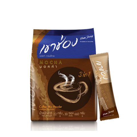 Khao Shong Coffee Mix 3in1 Mocha : Khao Shong Coffee Mix 3in1 Mocha / 22 g x 30 sticks / Price 145.00 THB