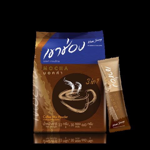 Khao Shong Coffee Mix 3in1 Mocha : Khao Shong Coffee Mix 3in1 Mocha / 22 g x 30 sticks / Price 145.00 THB
