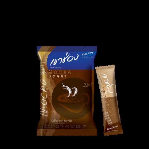 Khao Shong Coffee Mix 3in1 Mocha : Khao Shong Coffee Mix 3in1 Mocha / 22 g x 10 sticks / Price 45.00 THB