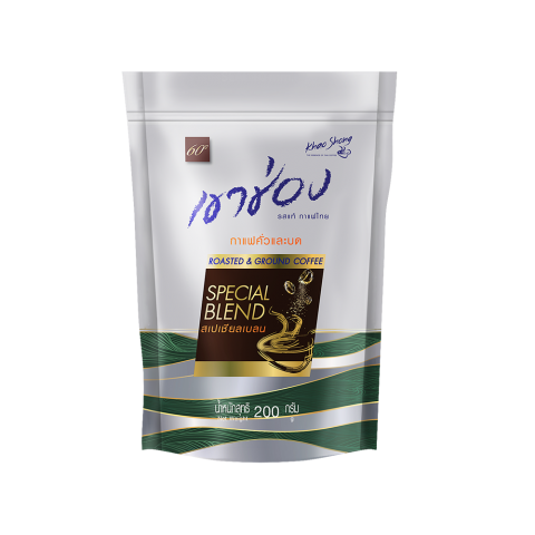 Khao Shong Roasted&Ground Coffee Special Blend :  Khao Shong Roasted and Ground Coffee Robusta Special Blend / 200 g / Price 125.00 THB