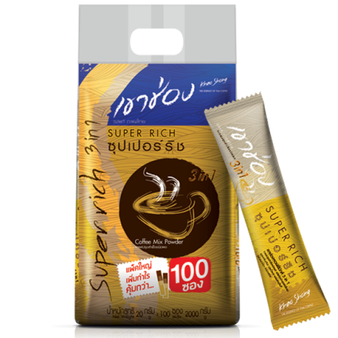 Khao Shong Coffee Mix 3in1 Super Rich : Khao Shong Coffee Mix 3in1 Super Rich / 20 g x 100 sticks / Price 375.00 THB