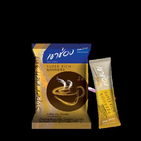 Khao Shong Coffee Mix 3in1 Super Rich / 20 g x 7 sticks / Price 29.00 THB