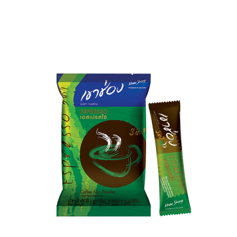 Khao Shong Coffee Mix 3in1 Espresso / 18 g x 7 sticks / Price 29.00 THB