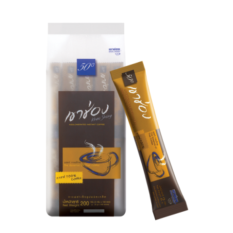 Khao Shong Coffee Agglomerated Instant Coffee Formula 1 (100% Coffee) : Khao Shong Coffee Agglomerated Instant Coffee Formula 1 (100% Coffee) / 2 g x 100 sticks / Price 159.00 THB