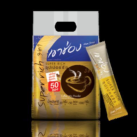 กาแฟเขาช่อง คอฟฟี่มิกซ์ 3in1 ซุปเปอร์ริช / 20 กรัมx50ซอง / ราคา 190.00 บาท
