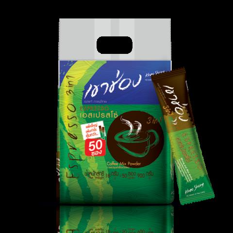 กาแฟเขาช่อง คอฟฟี่มิกซ์ 3in1 เอสเปรสโซ่ : กาแฟเขาช่อง คอฟฟี่มิกซ์ 3in1 เอสเปรสโซ่ / 18 กรัมx50ซอง / ราคา 190.00 บาท