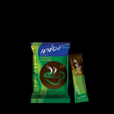 กาแฟเขาช่อง คอฟฟี่มิกซ์ 3in1 เอสเปรสโซ่ : กาแฟเขาช่อง คอฟฟี่มิกซ์ 3in1 เอสเปรสโซ่ / 18 กรัม x 5 ซอง / ราคา 21.00 บาท