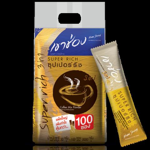 กาแฟเขาช่อง คอฟฟี่มิกซ์ 3in1 ซุปเปอร์ริช / 20 กรัมx100ซอง / ราคา 375.00 บาท