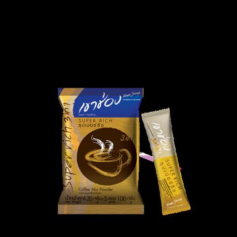 กาแฟเขาช่อง คอฟฟี่มิกซ์ 3in1 ซุปเปอร์ริช : กาแฟเขาช่อง คอฟฟี่มิกซ์ 3in1 ซุปเปอร์ริช / 20 กรัมx5ซอง / ราคา 21.00 บาท