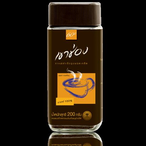 กาแฟสำเร็จรูปชนิดเกล็ด สูตร 1 (กาแฟ 100%)  / 200 กรัม / ราคา 149.00 บาท