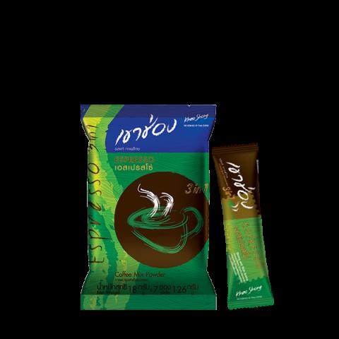 กาแฟเขาช่อง คอฟฟี่มิกซ์ 3in1 เอสเปรสโซ่ : กาแฟเขาช่อง คอฟฟี่มิกซ์ 3in1 เอสเปรสโซ่ / 18 กรัมx7ซอง / ราคา 29.00 บาท