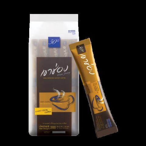 กาแฟสำเร็จรูปชนิดเกล็ด สูตร 1 (กาแฟ 100%) / 2 กรัมx100ซอง / ราคา 159.00 บาท